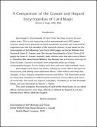 A Comparison of the Gravatt and Hugard Encyclopedias of Card Magic by William B. Rugh