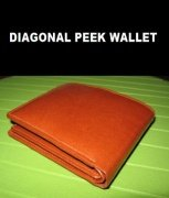 Diagonal Peek Wallet