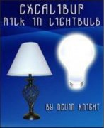 Excalibur Milk in Lightbulb by Devin Knight