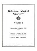 Goldston's Magical Quarterly Volume 1 (Jun 1934 - Mar 1935) by Will Goldston
