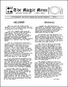 Magic Menu volume 1, number 1 (Sep - Oct 1990) by Jim Sisti