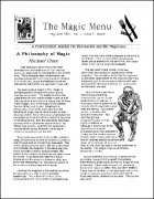 Magic Menu volume 1, number 5 (May - Jun 1991) by Jim Sisti