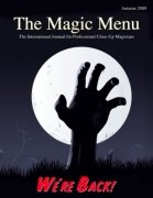 Magic Menu volume 12, number 1 (autumn 2009) by Jim Sisti