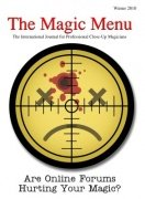 Magic Menu volume 12, number 2 (winter 2010) by Jim Sisti