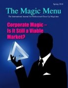 Magic Menu volume 12, number 3 (spring 2010) by Jim Sisti