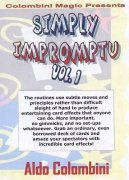 Simply Impromptu Volume 1 by Aldo Colombini