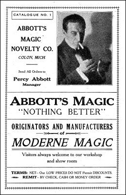 Abbott Magic Catalog #1 1934 by Percy Abbott