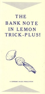 The Bank Note in Lemon Trick Plus (used) by Edwin Hooper & Ian Adair