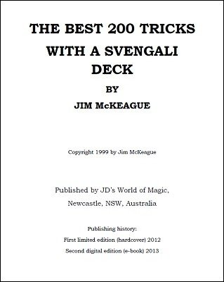 The Best 200 Tricks With A Svengali Deck by Jim McKeague