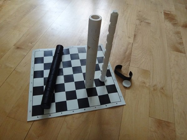 Cy Endfield chess set 3D printed: pawns exposed