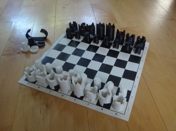 Cy Endfield chess set 3D printed