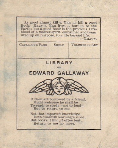 Edward Gallaway bookplate