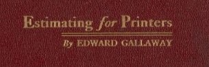 """""""Estimating for Printers"""" cover"""