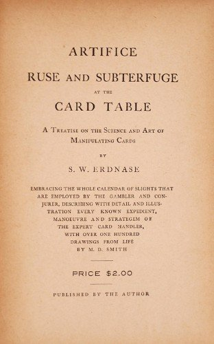 """""""The Expert at the Card Table"""" title page"""