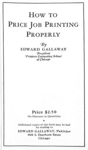 """How to Price Job Printing Properly"" title page"