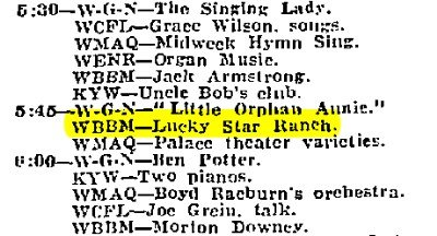 Chicago Tribune radio log