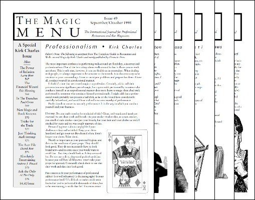 Magic Menu volume 9 (Sep 1998 - Aug 1999) by Jim Sisti