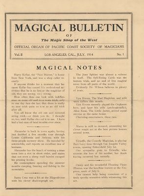 Magical Bulletin Volume 2 (July - December 1914) by Floyd Gerald Thayer
