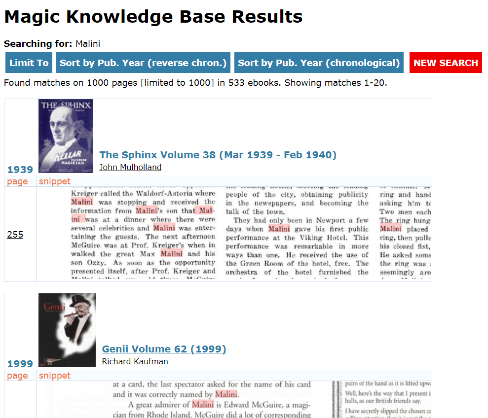 Magic Knowledge Base Search Preview