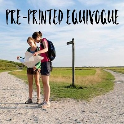 Pre-Printed Equivoque by Dave Arch