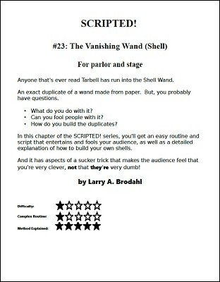 Scripted #23: vanishing wand (shell) by Larry Brodahl