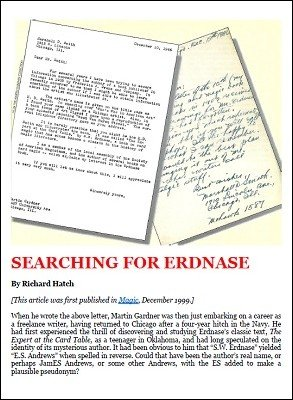 Searching for Erdnase by Richard Hatch