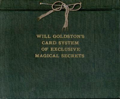 Will Goldston's Card System of Exclusive Magical Secrets (used) by Will Goldston